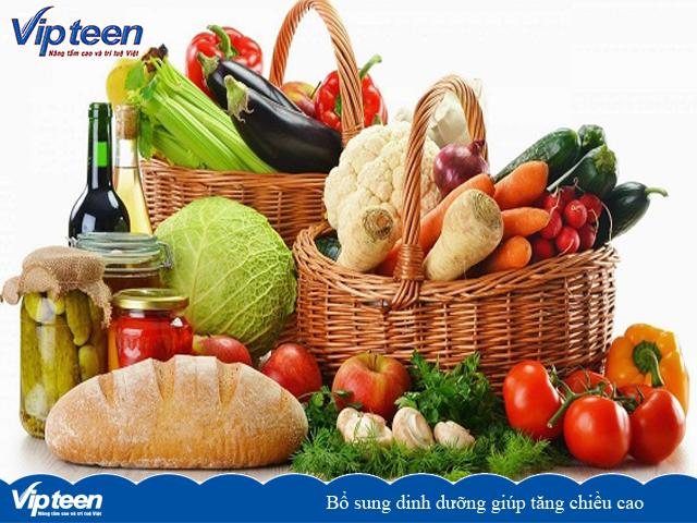 Bổ sung dinh dưỡng giúp tăng chiều cao