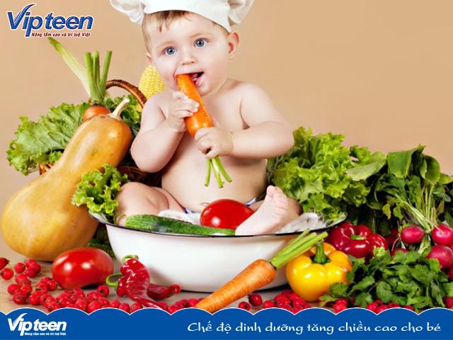 Chế độ dinh dưỡng tăng chiều cao cho bé