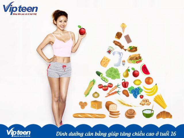 Dinh dưỡng giúp tăng chiều cao cho tuổi 16