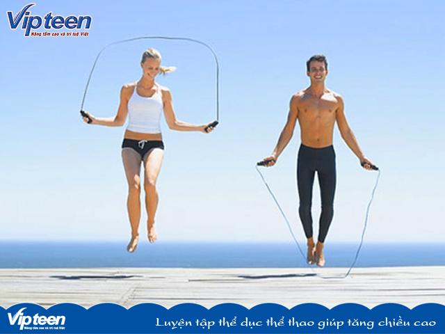 Luyện tập thể dục thể thao giúp tăng chiều cao