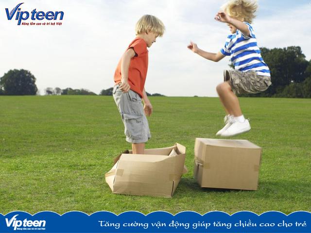 Tăng cường vận động giúp tăng chiều cao cho trẻ