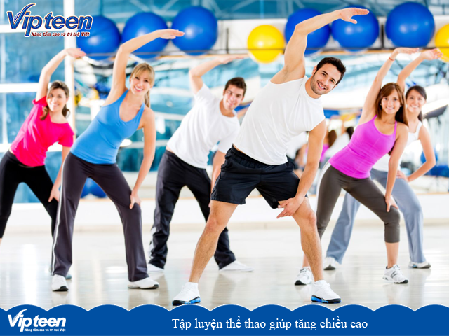 Tập luyện thể thao giúp tăng chiều cao