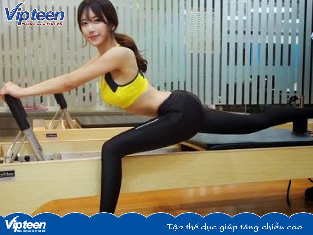 Tập thể dục giúp tăng chiều cao