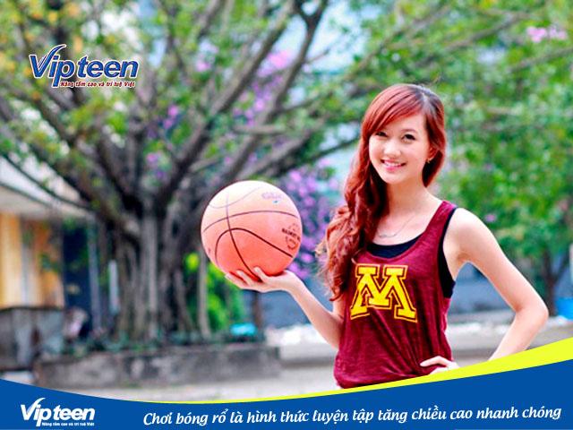Chơi bóng rổ giúp tăng chiều cao cho người trưởng thành