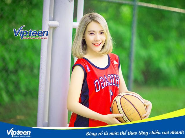 Bóng rổ là môn thể thao tăng chiều cao được nhiều bạn trẻ ưa thích