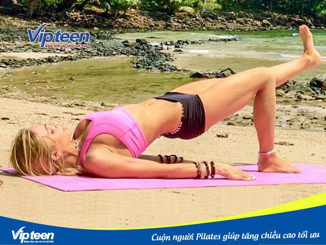 Cuộn người Pilates giúp tăng chiều cao tối ưu