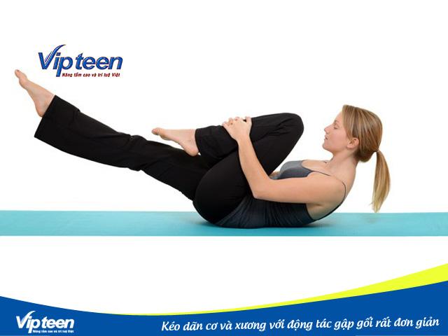 Giúp bạn tăng chiều cao với động tác gập gối