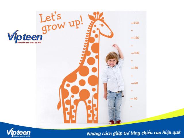 Những cách giúp trẻ tăng chiều cao hiệu quả