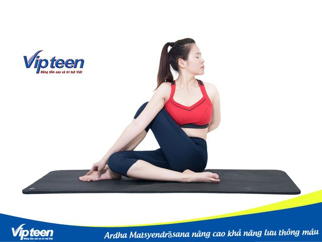 Ardha Matsyendrāsana giúp cơ thể thư giãn một cách nhẹ nhàng