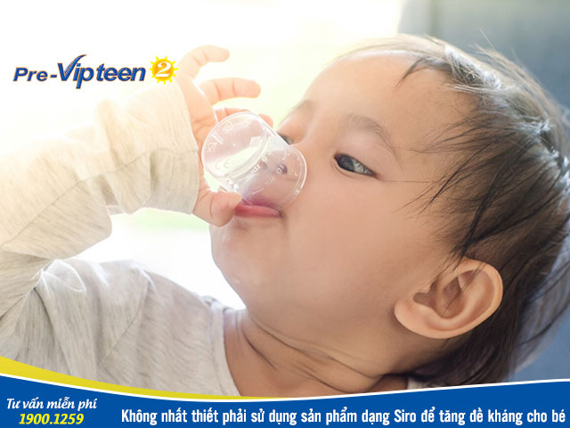 Siro tăng cường sức đề kháng cho bé