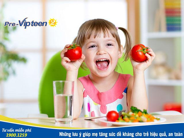 Thực phẩm chức năng tăng sức đề kháng cho trẻ