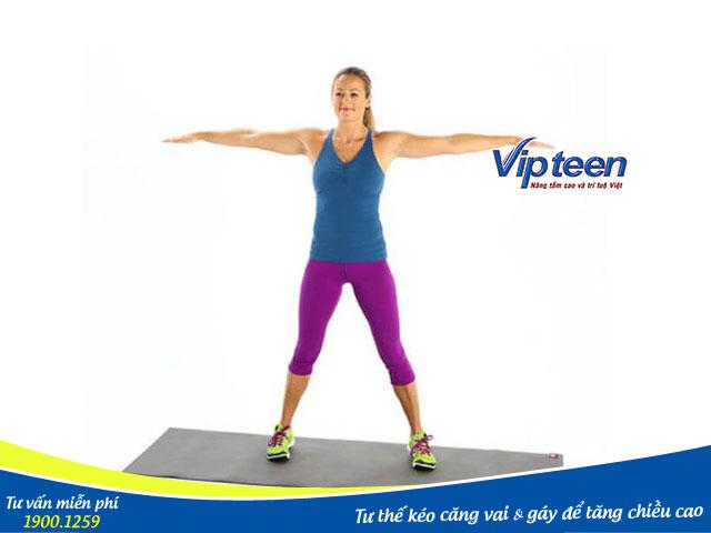 Tư thế tập thể dục tăng chiều cao bằng việc kéo giãn cơ, xương, khớp