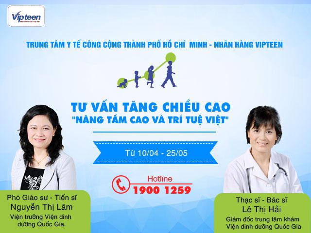 Nhãn hàng Vipteen tư vấn tăng chiều cao cho trẻ tai TP Hồ Chí Minh