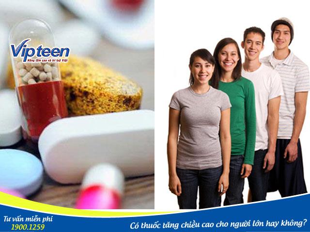 Thuốc tăng chiều cao cho người trưởng thành