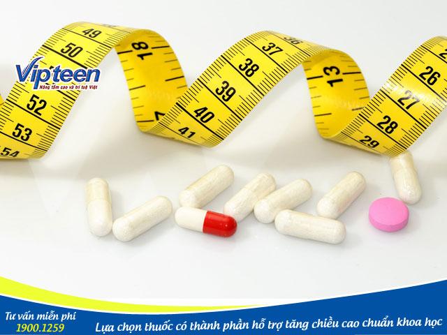 Thuốc có hỗ trợ tăng chiều cao nhanh hay không còn phụ thuộc vào thành phần chính là gì