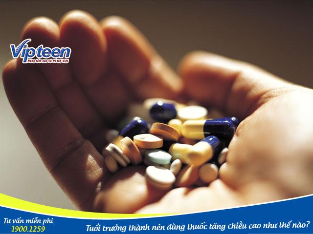 Thuốc tăng chiều cao ở tuổi trưởng thành cần được sử dụng đúng cách, đúng liều lượng