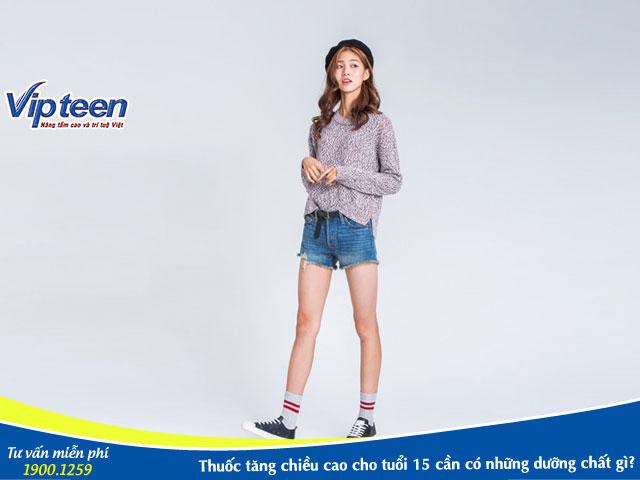 thuốc tăng chiều cao cho trẻ 15 tuổi
