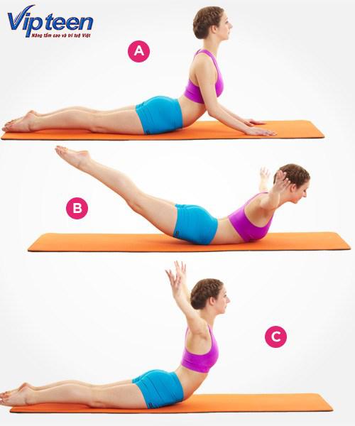 Tập yoga để tăng chiều cao