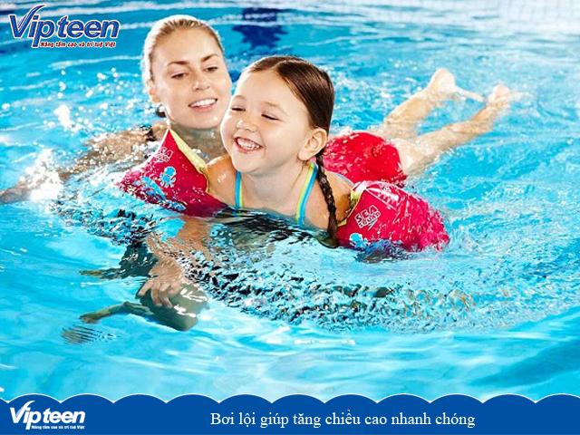 Bơi lội giúp tăng chiều cao nhanh chóng