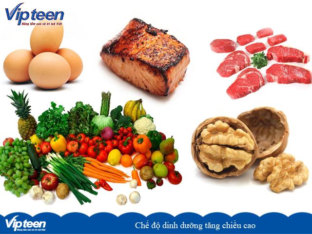 Chế độ dinh dưỡng tăng chiều cao