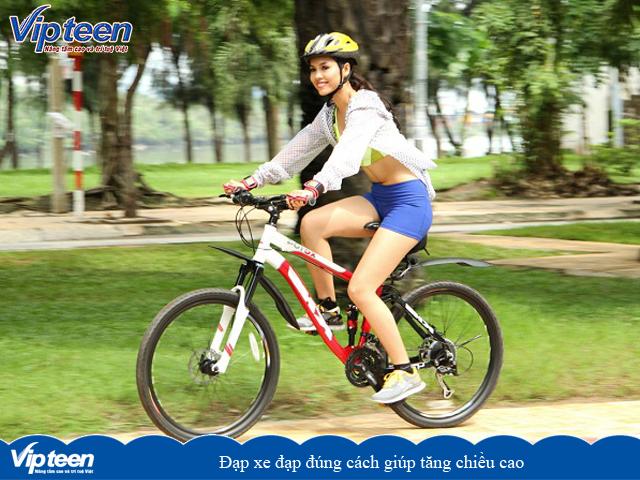 Đạp xe đạp đúng cách giúp tăng chiều cao