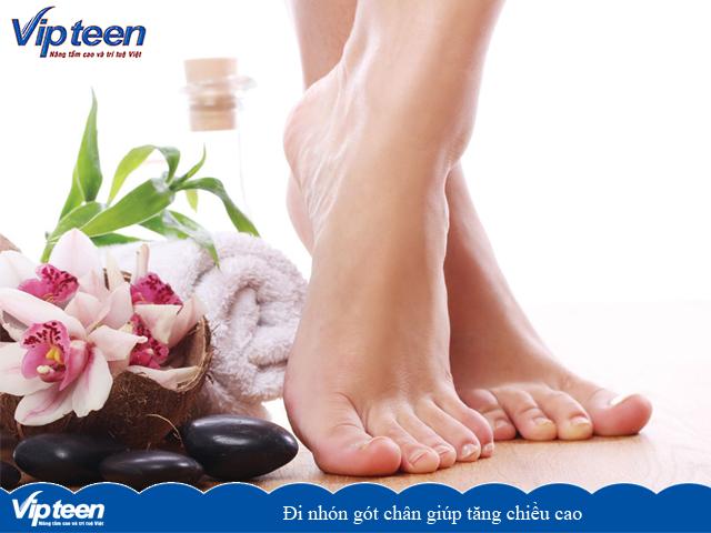 Đi nhón gót chân giúp tăng chiều cao
