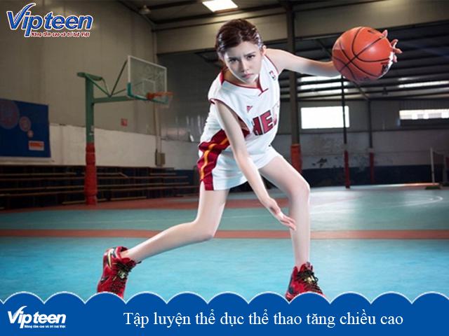 Tập luyện bóng rổ giúp tăng chiều cao