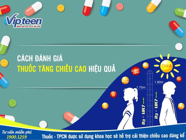 Đánh giá thuốc tăng chiều cao an toàn