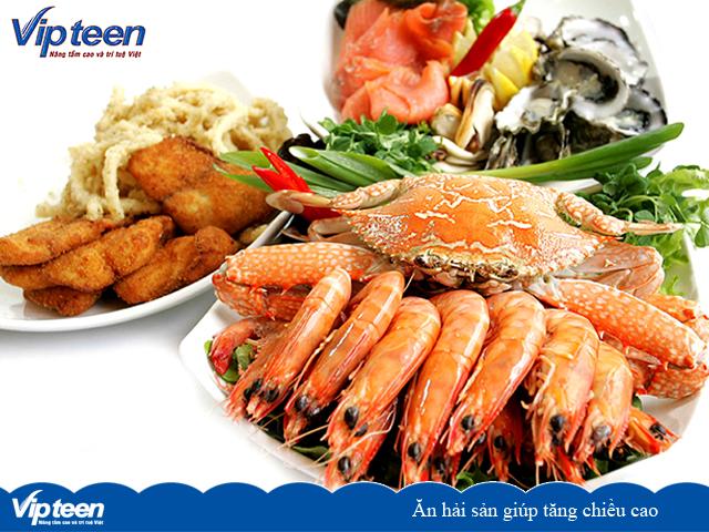 Ăn hải sản giúp bổ sung canxi tăng chiều cao