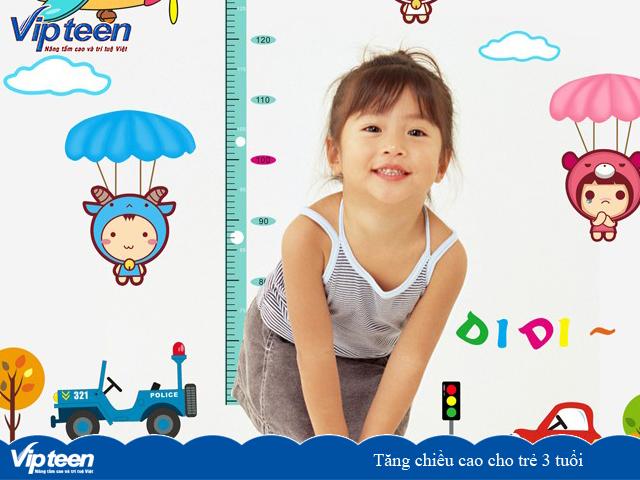 Tăng chiều cao cho trẻ 3 tuổi