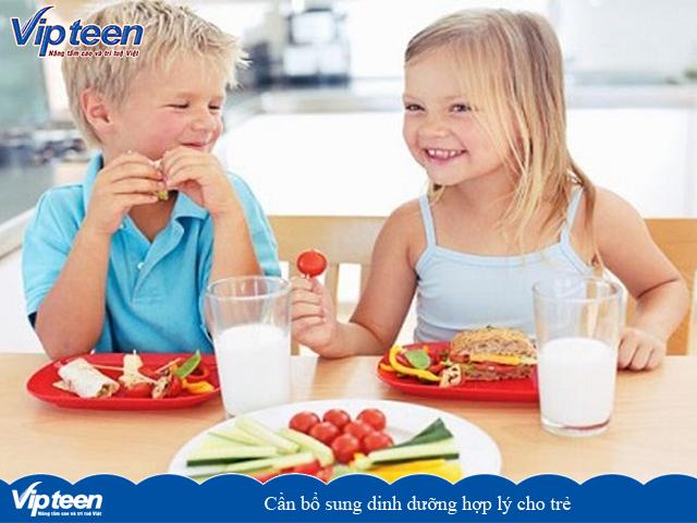 Cần có chế độ ăn hợp lý cho trẻ
