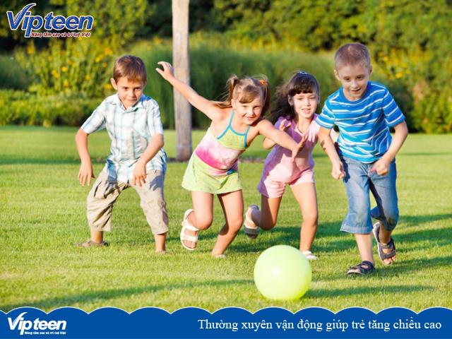 Thường xuyên vận động giúp trẻ tăng chiều cao