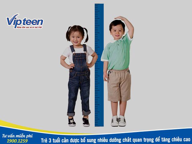 Chọn thuốc tăng chiều cao cho bé 3 tuổi