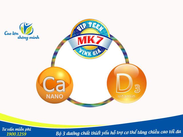 Bộ 3 dưỡng chất giúp tăng chiều cao