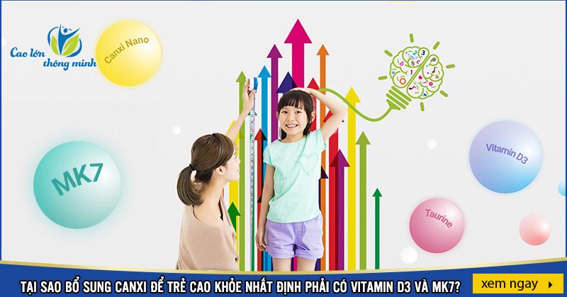 Bổ sung Canxi phải có Vitamin D3 và Mk7