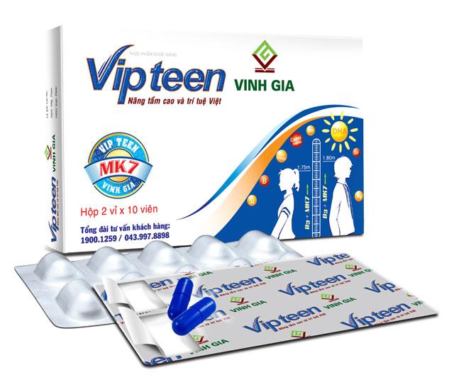 Hộp sản phẩm Vipteen tăng chiều cao