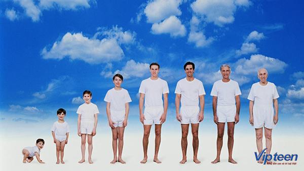 độ tuổi tăng chiều cao cho nam