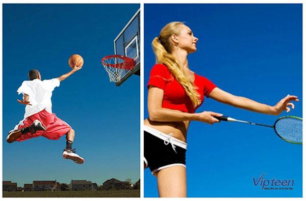 các môn thể thao tăng chiều cao cho nam
