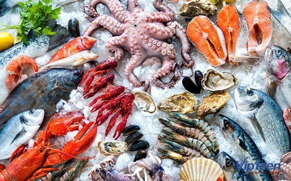 ăn gì để tăng chiều cao - hải sản