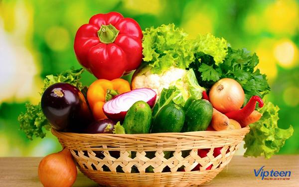 ăn gì để tăng chiều cao - rau xanh hoa quả