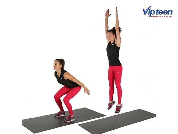 bài tập tăng chiều cao cho nữ - bật nhảy tại chỗ
