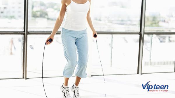 bài tập tăng chiều cao cho nữ - nhảy dây