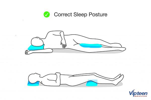 cách tăng chiều cao - tư thế ngủ đúng cách