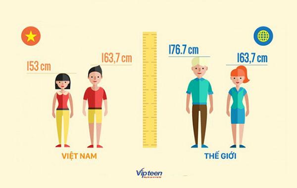 tăng chiều cao ở tuổi 17 nữ - chiều cao người Việt