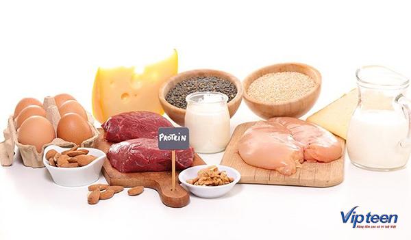thực đơn tăng chiều cao cần có đủ protein