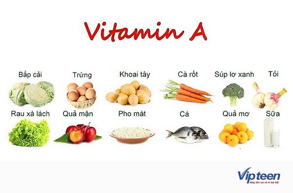 thực phẩm giúp tăng chiều cao ở tuổi dậy thì - vitamin a