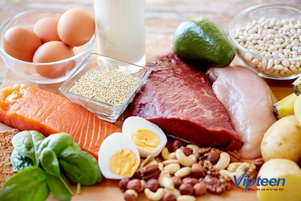 thực phẩm giúp tăng chiều cao ở tuổi dậy thì - protein