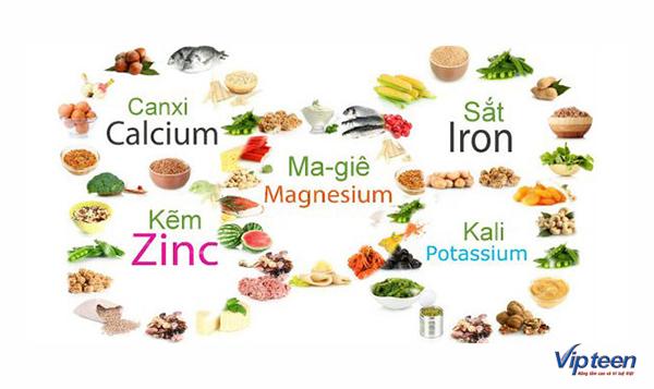 thực phẩm giúp tăng chiều cao ở tuổi dậy thì cần có khoáng chất