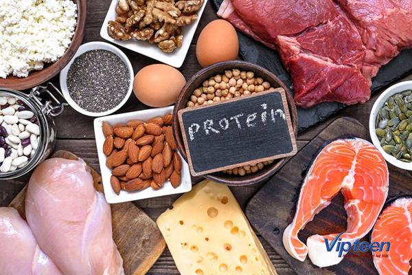 thực phẩm tăng chiều cao cho bé chứa protein