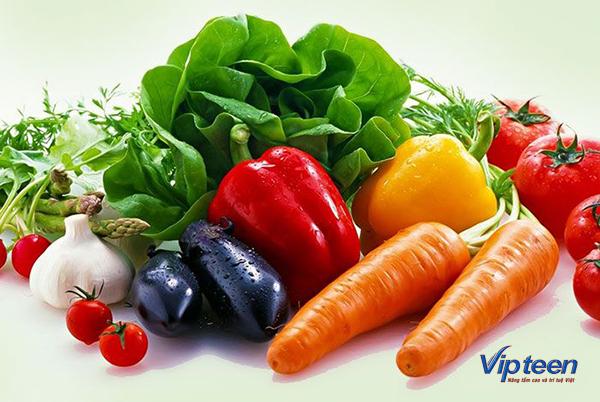thực phẩm tăng chiều cao cho bé - rau củ